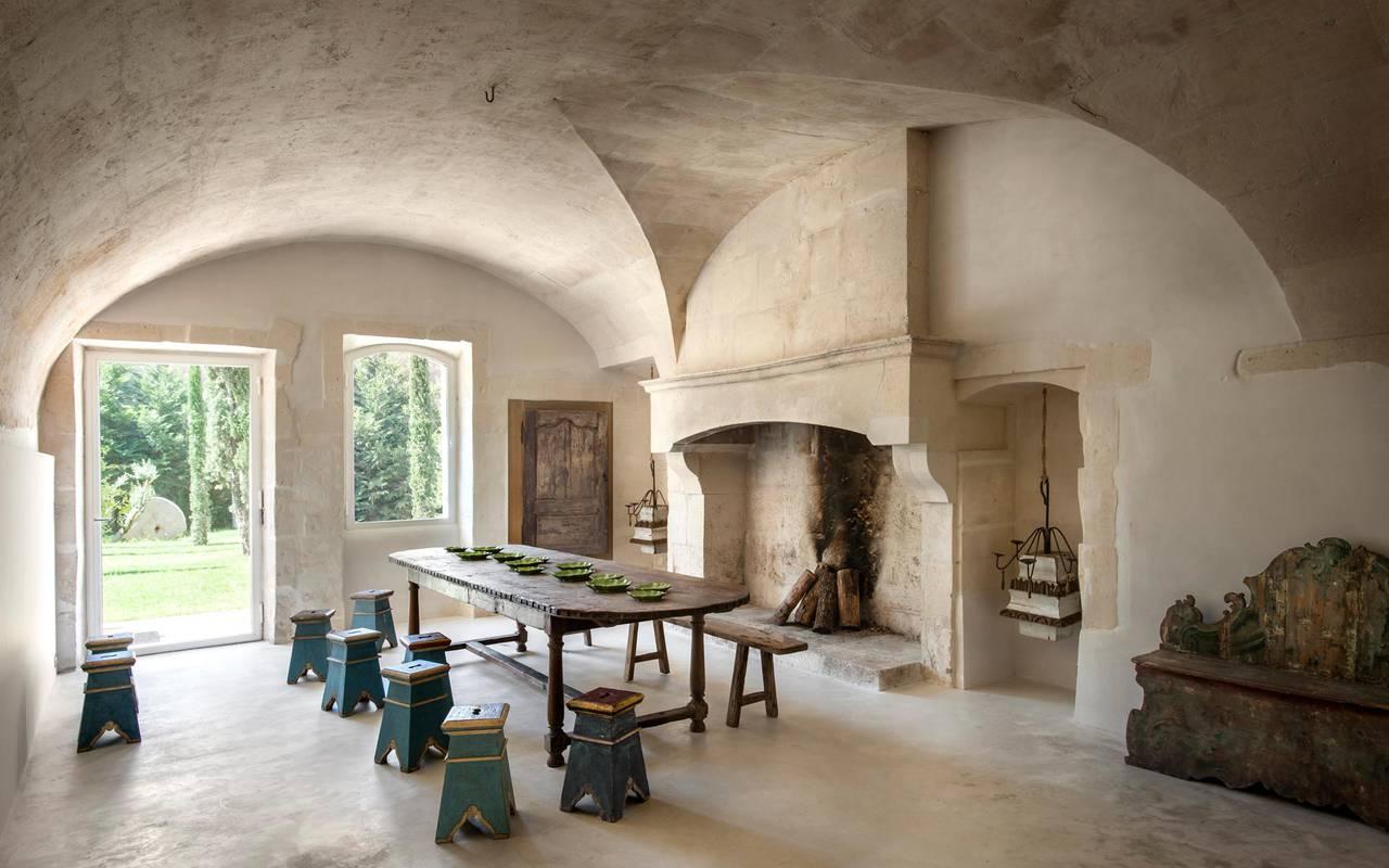salon de notre maison en Carmargue